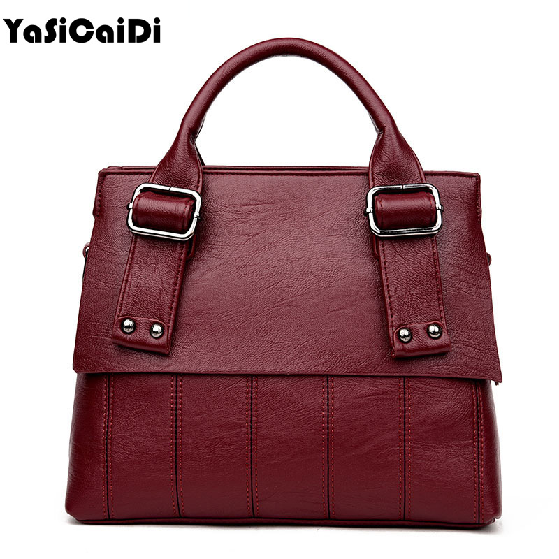 YASICAIDI Striped Women Handbag High Quality PU Leather Shoulder Bag Fashion Large Capacity Bags Ladies Messenger Bags Sac
