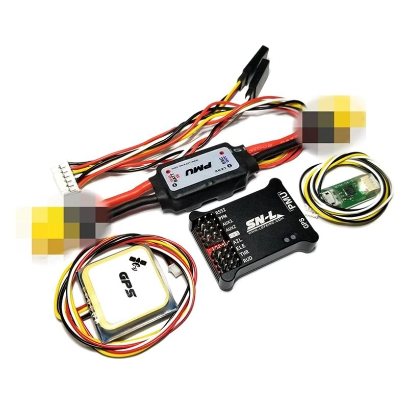 SN-L Fixed Wing Flight Control W/ Pixel OSD AAT+Galvanometer+GPS Module 2-6S FC Set PPM SBUS F RC FPV Drone VS F4 V3 INAV