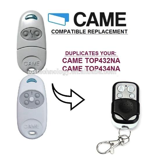 CAME TOP432NA Duplicator 433.92mhz remote control Universal Garage Door Gate Cloning 433mhz Transmitter hot sale wireless universal garage remote control duplicate key fob 433mhz cloning gate garage door hot worldwide