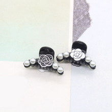 1pcs New Fashion Lady Hair Clip Crab Black Claw Clips Gift Wholesale Acrylic hair accessories