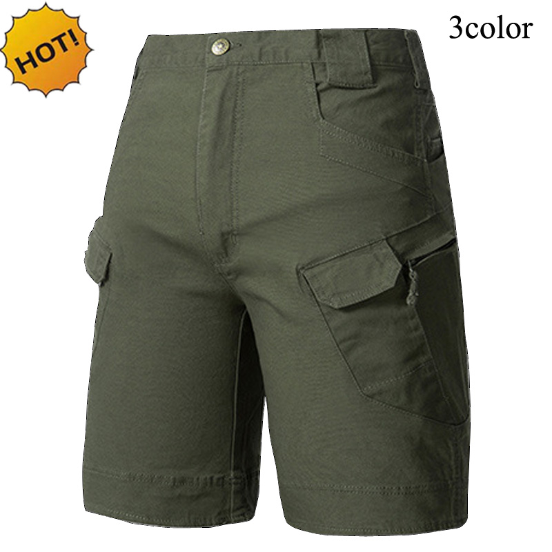 HOT 2018 Outdoors Summer IX7 Casual Mens Cargo Camo Tactical Straight Combat Cotton Military Army Men Solid Short trousers