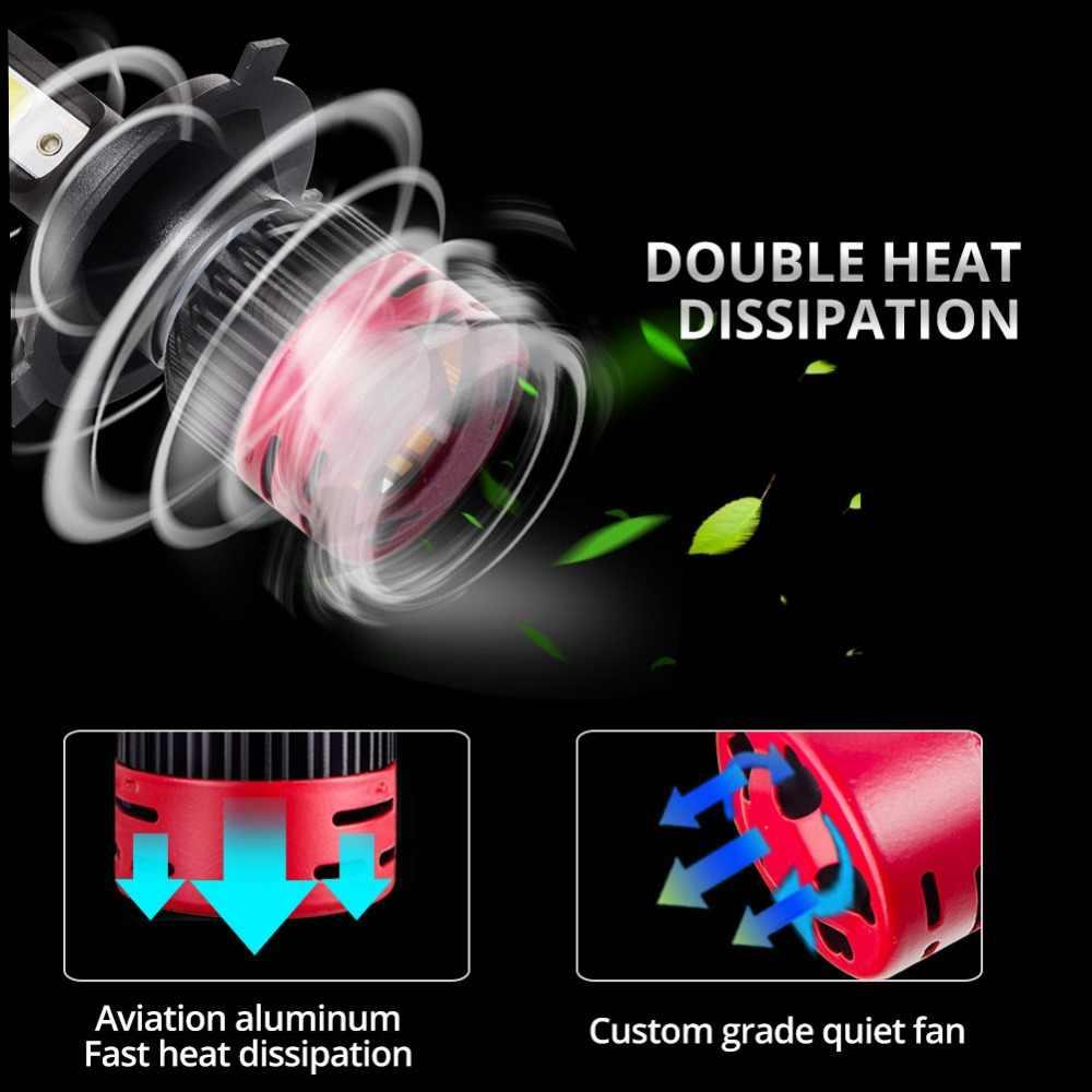 Avacom 2Pcs LED H7 Car Headlight Bulb H1 H3 9005/HB3 9006/HB4 Hir2 12V COB Chip 6500K/4300K 72W 8000Lm LED H4 H11 Car Lamp