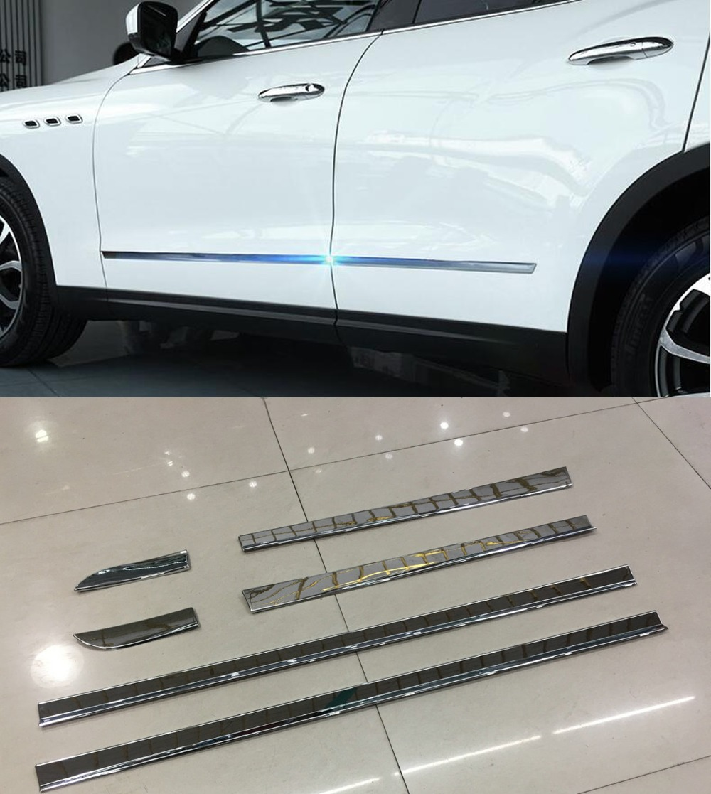 DEE Car Mouldings for Maserati Levante Accessories Anti-collision Strip Crash Bumper Protector Door Guard Rubbing Trim Strip стоимость