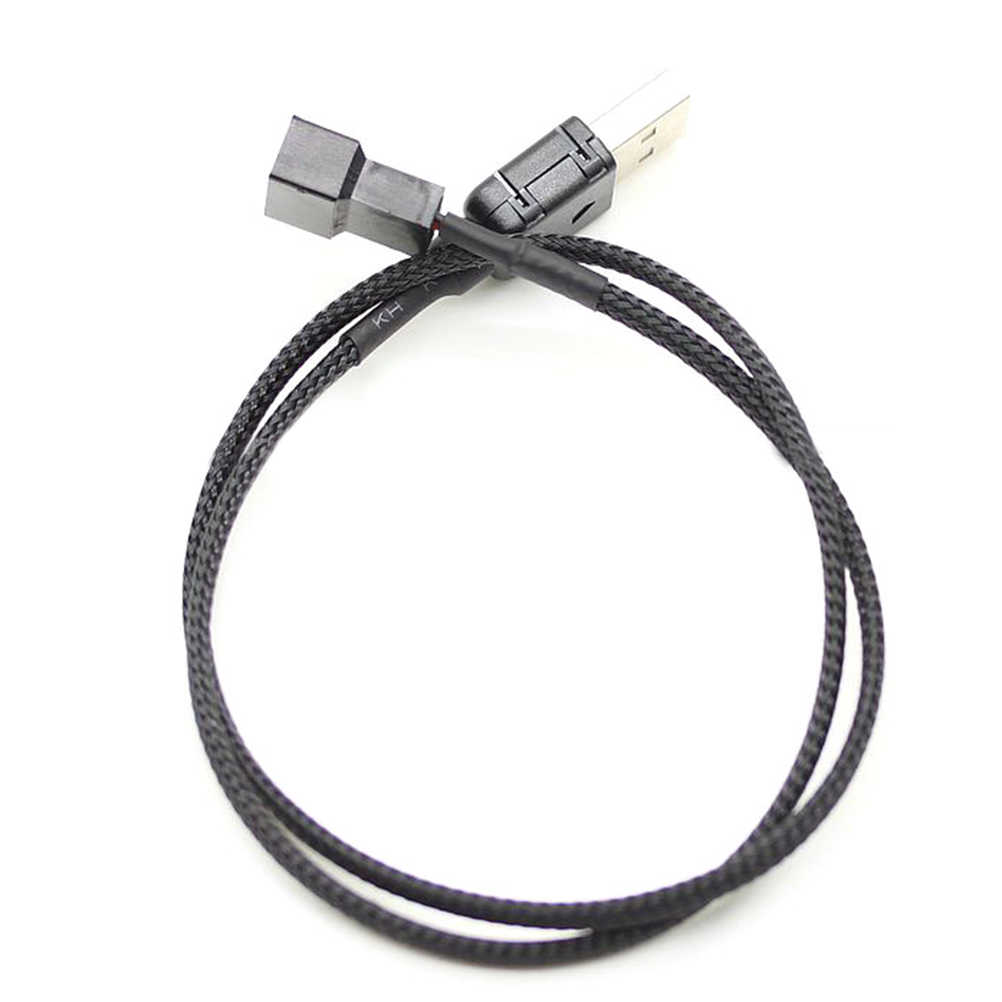 JETTING New 50cm USB A male to Fan 3-Pin 3pin /4-Pin 4pin Adapter Cable for 5V