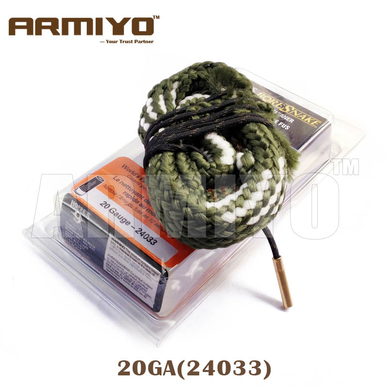 Armiyo Bore Snake 20GA 20 Gauge 15.6mm Shot Gun Barrel Cleaning Sling Bore Cleaner 24033 Hunting Shooting Clean Accessories