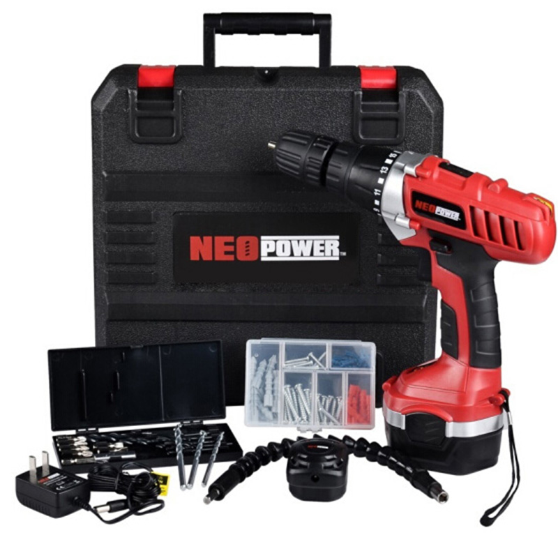 Neopower 14.4V Cordless Drill Charging Impact Drill Household Drill Set Hand Drill Electric Cordless Screwdriver Toolbox цена