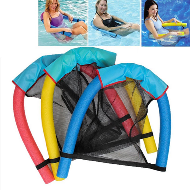 Portable Pop Water Floating Chair Swimming Pool Noodle Seat Funny Tube Recreation Toy Holiday Beach Swim Rest Nessential goods inflatable giant pegasus floating rideable swimming pool toy float raft floating row white swan floating row for holiday water