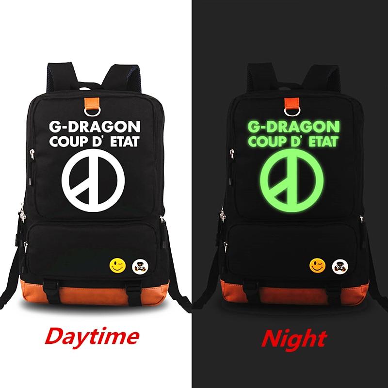 Hot Kpop Exo bigbang Luminous backpacks Rucksack Teenagers Men Women's Student School Bags Casual Travel Laptop Bags Knapsack bigbang10 bigbang made program book 136 pages photobook kpop