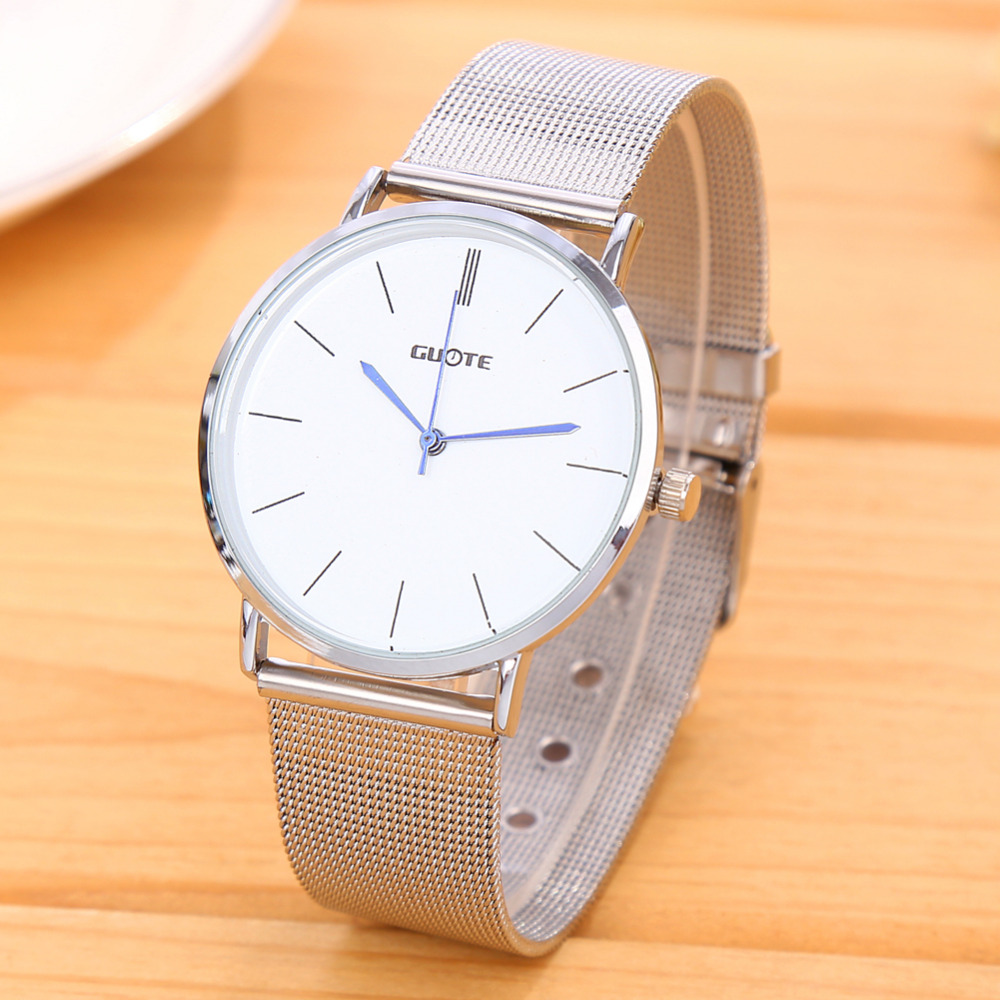 Relogio Feminino New Fashion Silver Quartz Watch Women Metal Mesh Stainless Steel Casual Watches Luxury Brand Wristwatches Hot 2016 new famous brand silver watch women casual quartz clock women metal mesh stainless steel dress watches relogio feminino