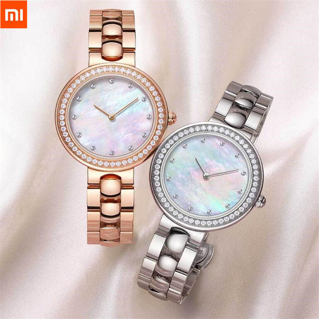 Xiaomi TwentySeventeen Crystal Quartz Wrist Watch for Women 64 Artificial Gem Wristwatch Ladies Fashion Christmas Gift Birthday Smart Wristbands