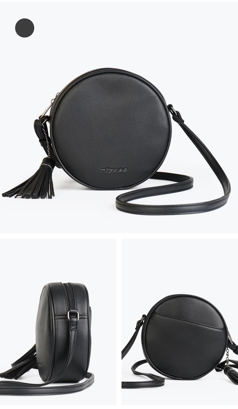 Sac À Bandoulière Rond Fashion Noir