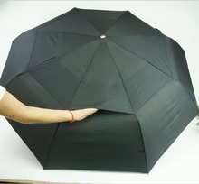 Top Double Layer Windproof Umbrella  Commercial Automatic Golf Mans For Rain Free shipping