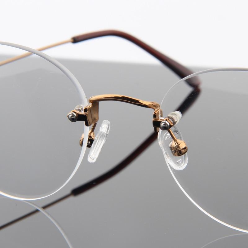 ae8f846ebd Fashion No Screw Super Light Round Rimless Glasses Frame For Women Metal  Eyeglasses Myopia Optical Frames Computer Eyewear   06N-in Eyewear Frames  from ...