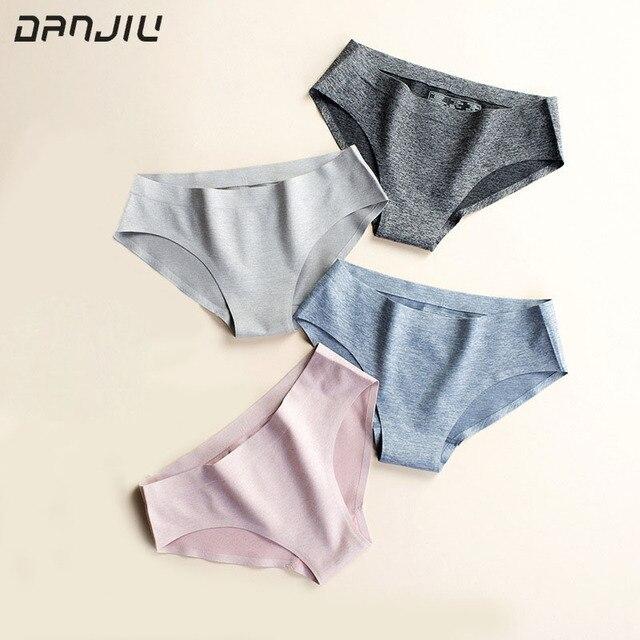 f9a66b6ca9 DANJIU marca slip di vendita calda per Le Donne sexy del cotone mutande  comfort Intimo donna