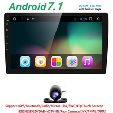 "10.1″QuadCore 2Din 7""Android 7.1 Fit Universal Car Audio Stereo Radio GPS TV 4G WiFi dvd automotive SWC DVR RDS BT DTV DAB OBD2"