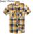 2017 verão camisa xadrez de manga curta dos homens livres do transporte de algodão frabic atacado roupas casuais plus size roupas masculinas 55