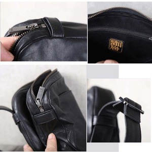 Image 5 - Men Casual Shoulder Bag Handbag Genuine Leather Male Small Bag handmade 100% Cowhide Fashion Mini Satchel Travel Crossbody Bags