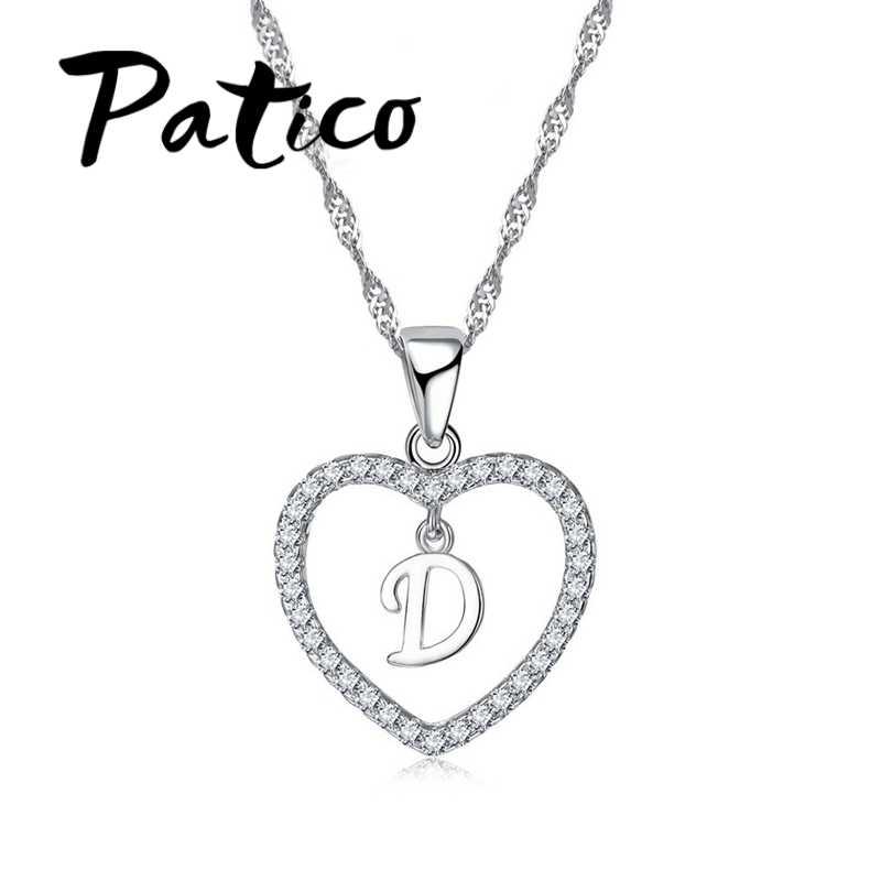 Top qualité lettre pendentif collier 925 en argent Sterling à la mode anglais lettre Design été Style bijoux accessoire