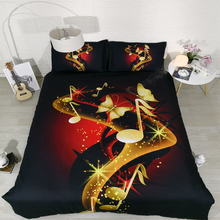 GOLDENY JF 193 Modern Style Gold Music Notes Print 4pcs