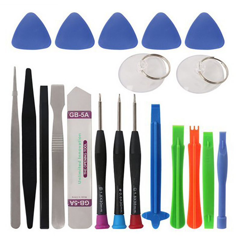 20 in 1 Mobile Phone Repair Tools Kit Screwdriver Spudger Pry Opening Tool Set for iPhone 6s 6 Plus 7 8 X Repair Tools Set(China)