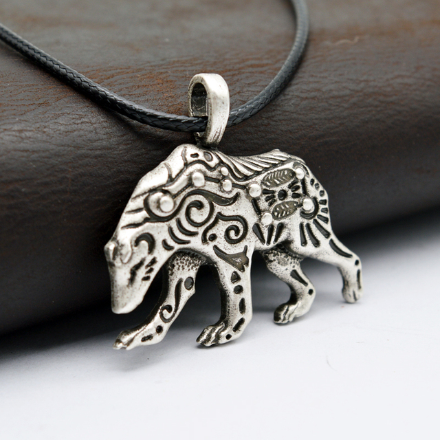 1pcs viking bear pendant necklace ursa bear necklace talisman animal 1pcs viking bear pendant necklace ursa bear necklace talisman animal jewelry antique silver plated ct627 aloadofball Gallery
