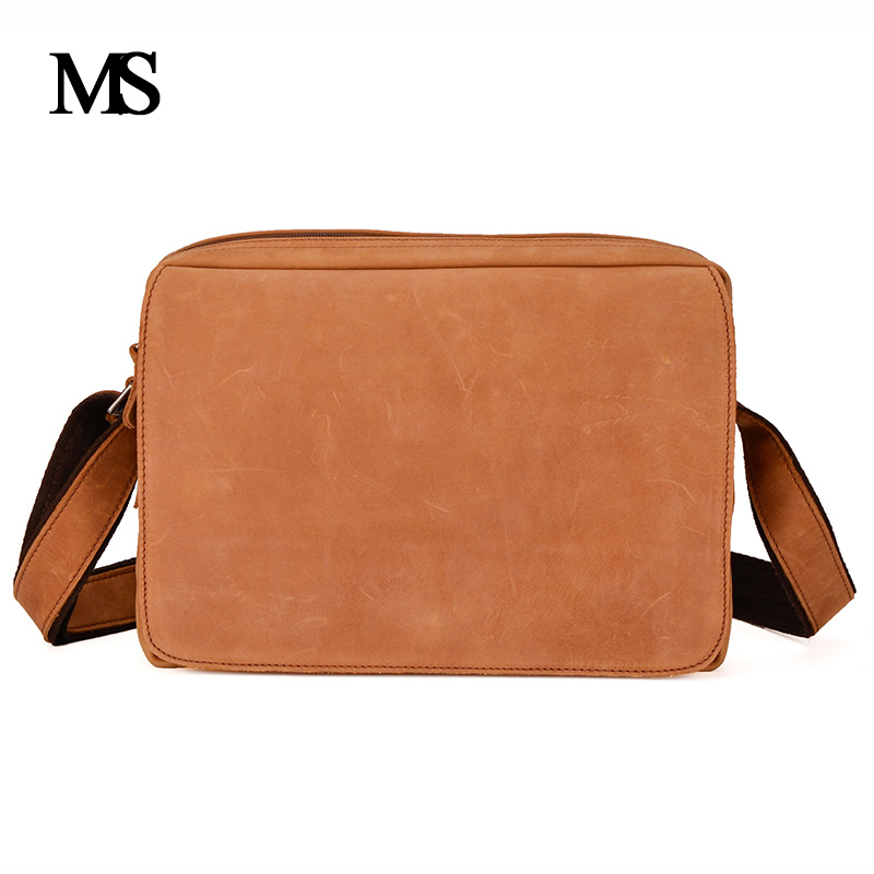MS Crazy Horse Genuine Leather Men Bag Men's Leather Bag Men Messenger Bags Shoulder Crossbody Bags Man Handbag Briefcase TW2011 ms crazy horse genuine leather men bag men s leather bag men messenger bags shoulder crossbody bags man handbag briefcase tw2011