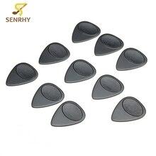 10Pcs 0.7mm Black Nylon Guitar Picks Plectrum Toughness Anti Slip Guitarra Pick For Acoustic Guitar Guitar Parts & Accessories