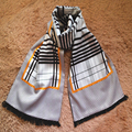 Novos Homens Venda Quente Cachecol Borla Dupla camada de Seda Inverno estilo Britânico Atacado impresso cachecóis Masculinos SC2040