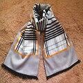 Nueva Venta Caliente de Los Hombres Bufanda de La Borla de Doble capa estilo Británico de Inverno de Seda Al Por Mayor impreso bufandas Masculinas SC2040
