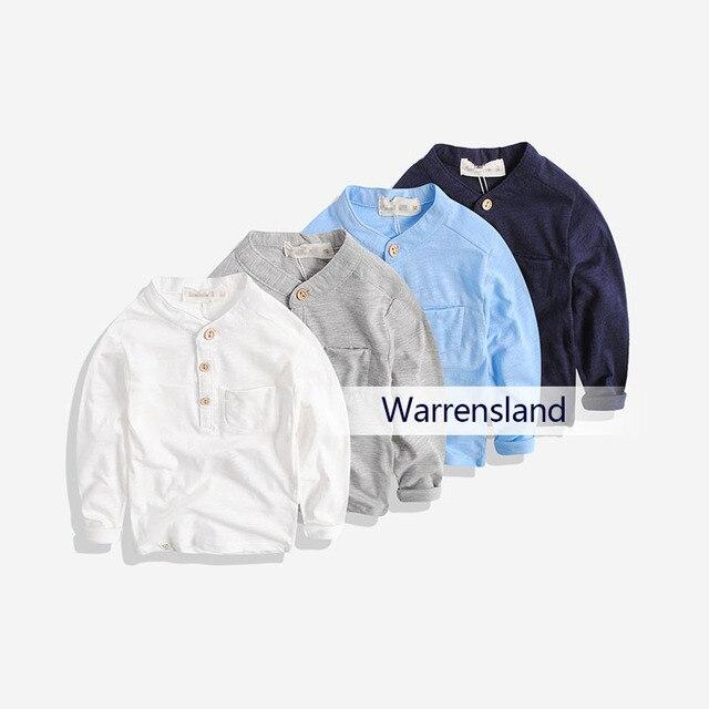 Чэн Парк осенью 2017 новых мальчиков рубашки дети половина кардиган с длинными рукавами Футболки Детские пряжа хлопок куртка