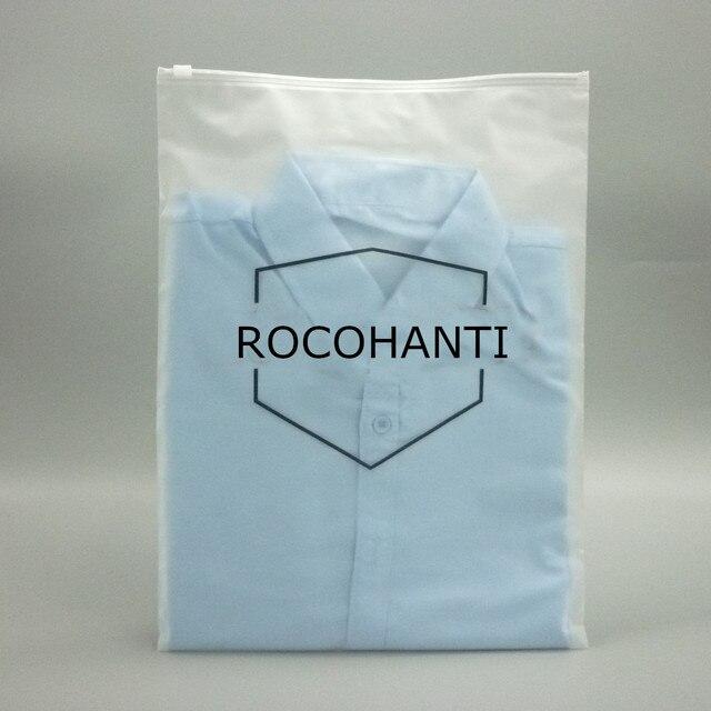 100X Zip lock Zipper Top fosco sacos de plástico para a roupa, T-Shirt, saia varejo saco de armazenamento de embalagens personalizadas impressão do logotipo