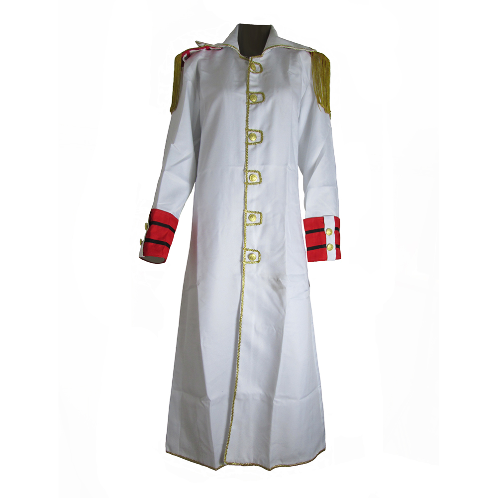Brdwn Une Pièce Unisexe Marine Soldat Blanc Cosplay Manteau Anime Costumes