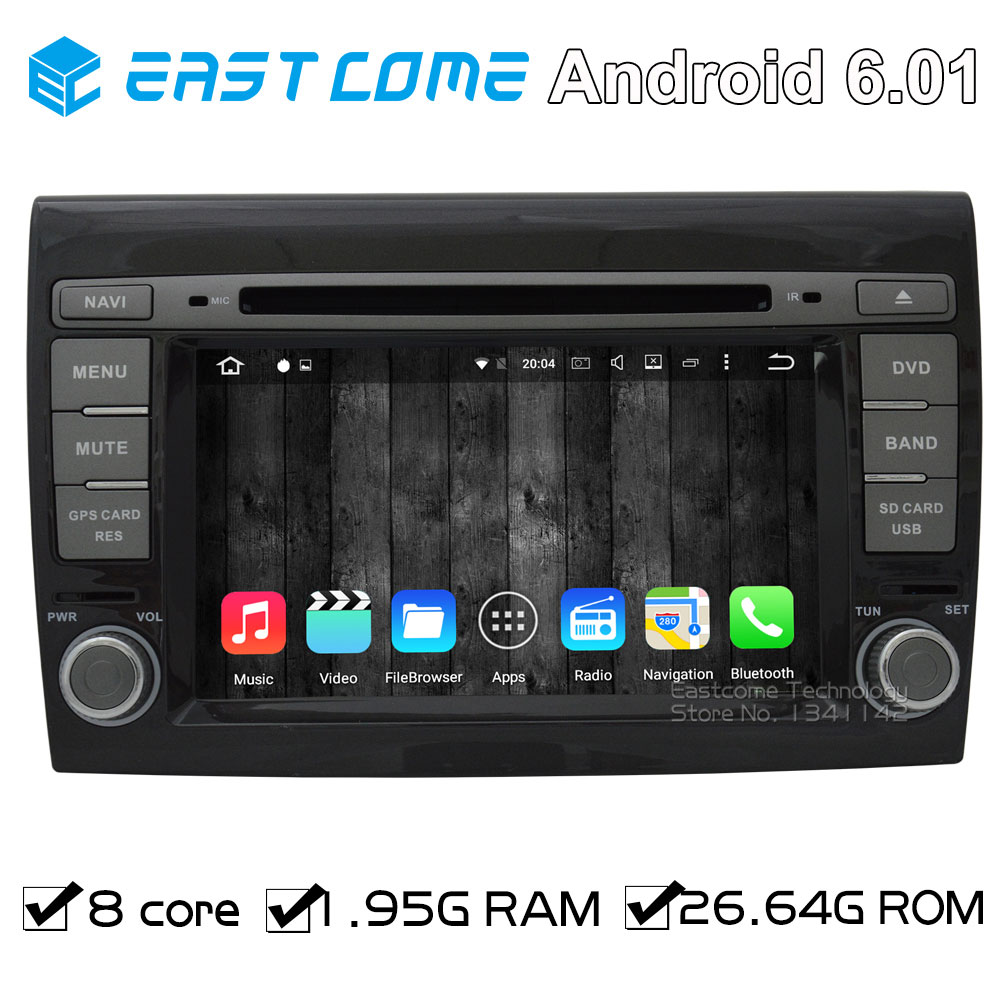 Octa Core 8 Core Pure Android 6.01 Car DVD Player for Fiat Bravo 2007 2008 2009 2010 2011 2012 With Radio Bluetooth GPS WiFi фаркоп aragon fiat bravo 2007 lancia delta 2008