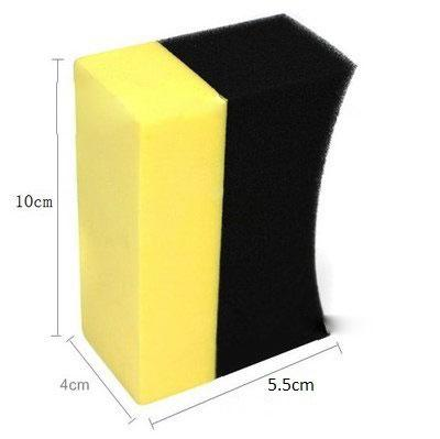Lumiparty Auto U-shape Tire Wax Polishing Compound Sponge Tyre Cleaning Sponge Arc Edge Sponge Ideal For Cleaning R30 Jade White