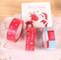 Cute Merry Christmas Motif Washi Tape Decorative Adhesive Tape Masking Tape DIY Scrapbooking Tools H0084