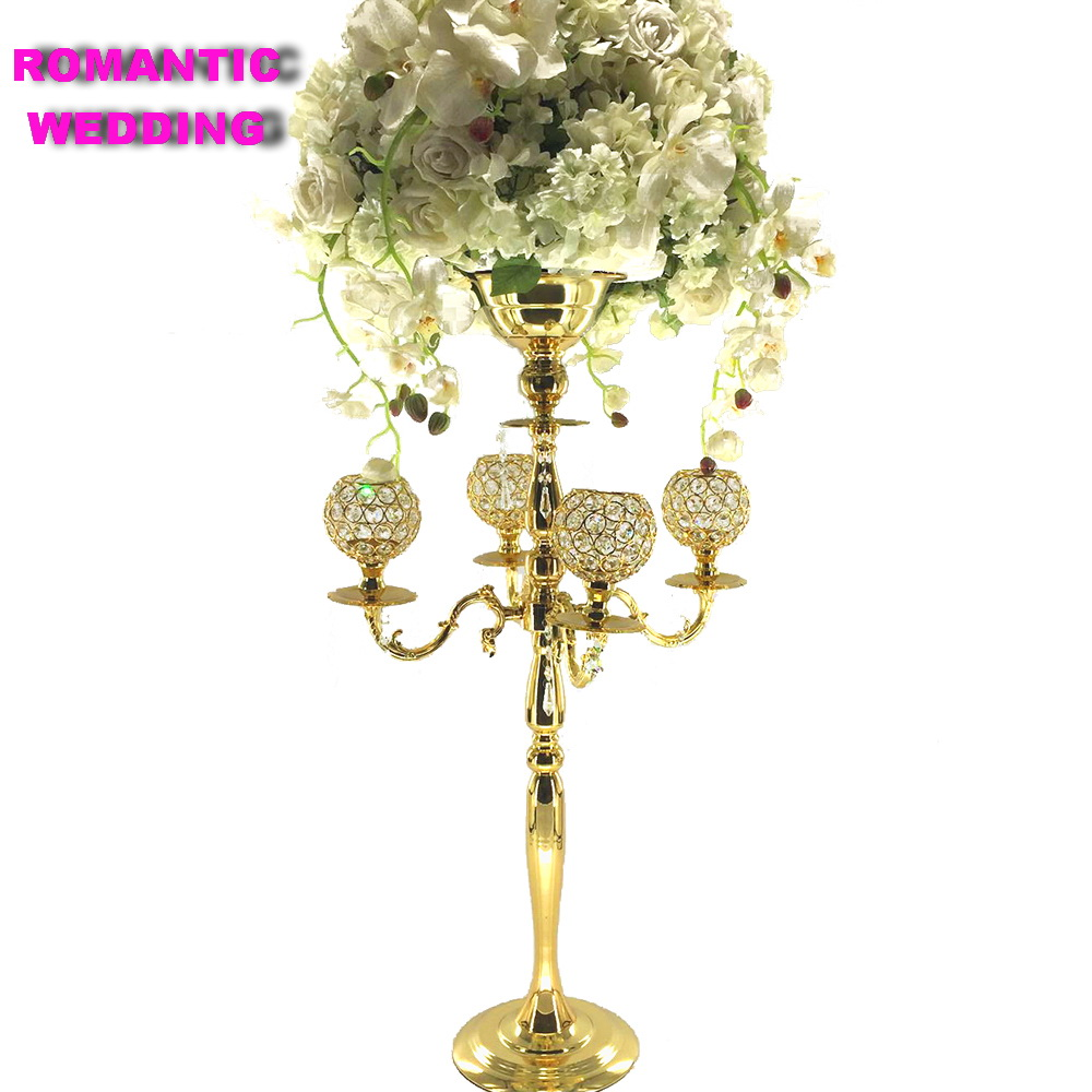Diy Candelabra: Crystal Candelabra Centerpieces Gold Wedding Globe Crystal