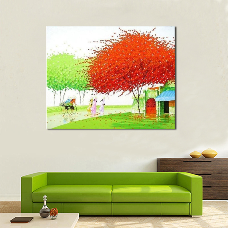 Handpainted Abstract Art oil painting on canvas forl home decor for living room decorative pictures painting Christmas gifts