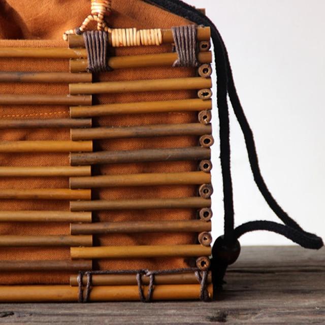 2017 Luxury Designer Beach Bags Small Fashion Bamboo Bag Women Travel Straw Tote Clutch Trunk Ladies Hand Bag Handbags