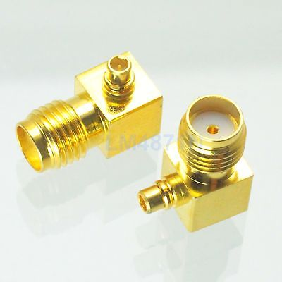 Adapter 5pcs 90 SMA female to MMCX male connector right angle gold plating F/M 2pcs new sma female jack nut right angle connector switch mmcx male plug right angle rg178 cable 15cm 6 adapter wholesale