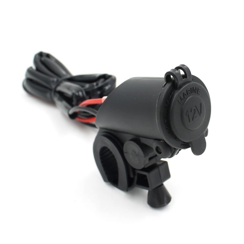 Car Accessory Useful Car Cigarette Lighter Socket Power Plug Outlet Parts 12V 2.1A Dual USB Motorcycle Cigarette Lighter Socket