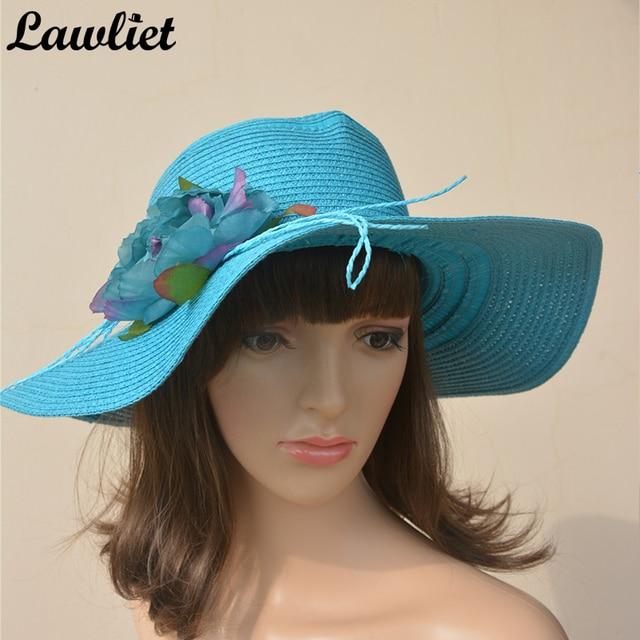 1333f5dc1f26e Plegable Sombreros de Señora De Verano Dama Sol Casquillo de la Playa del  Sombrero de Paja