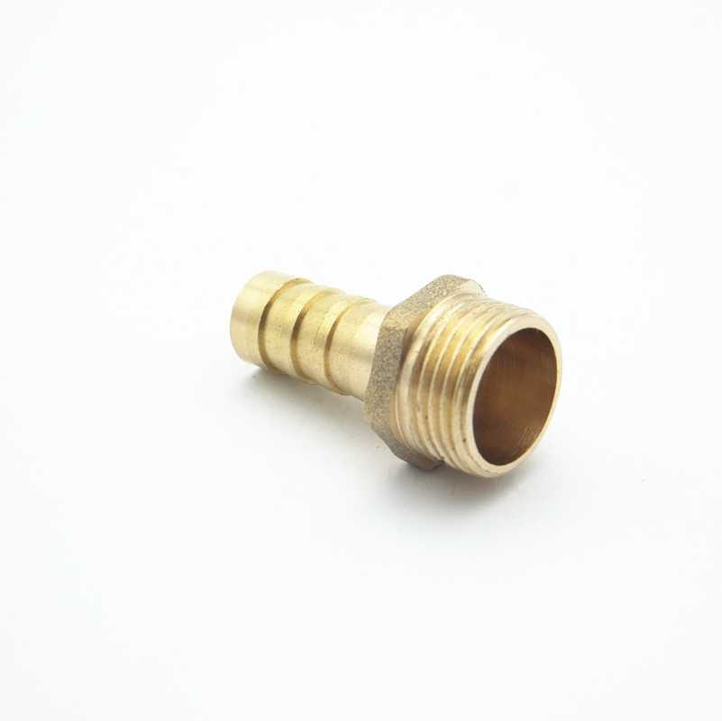 """10 Mm Selang Duri X 3/8 """"Inch BSP Male Thread Kuningan Berduri Pipa Fitting Coupler Konektor Adaptor untuk Pemakaian air Gas"""