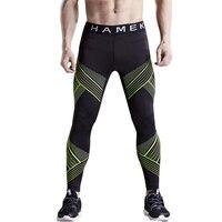 2017 quick dry sport gym fitness leggings hombres mallas de compresión de pieles medias de baloncesto corriendo pantalones de entrenamiento pantalones