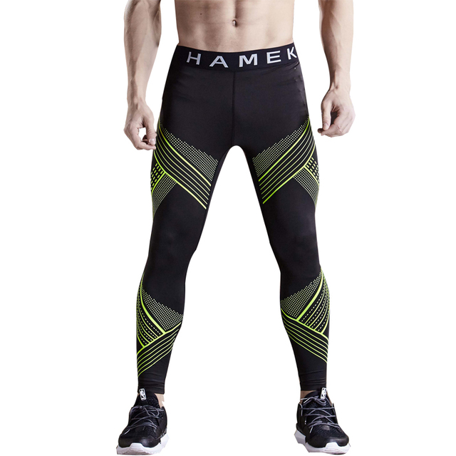 cd40114a24 2017 quick dry sport leggings men running tights compression skins gym  fitness basketball tights running training pants trousers