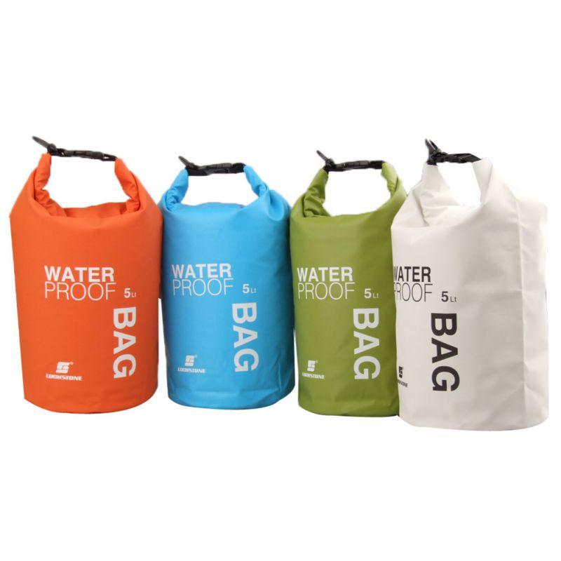 5L Portatile Sacchetto Impermeabile Per Canoa Kayak Rafting Dry Bag Sports Outdoor Camping Kit Da Viaggio Equipaggiamento New
