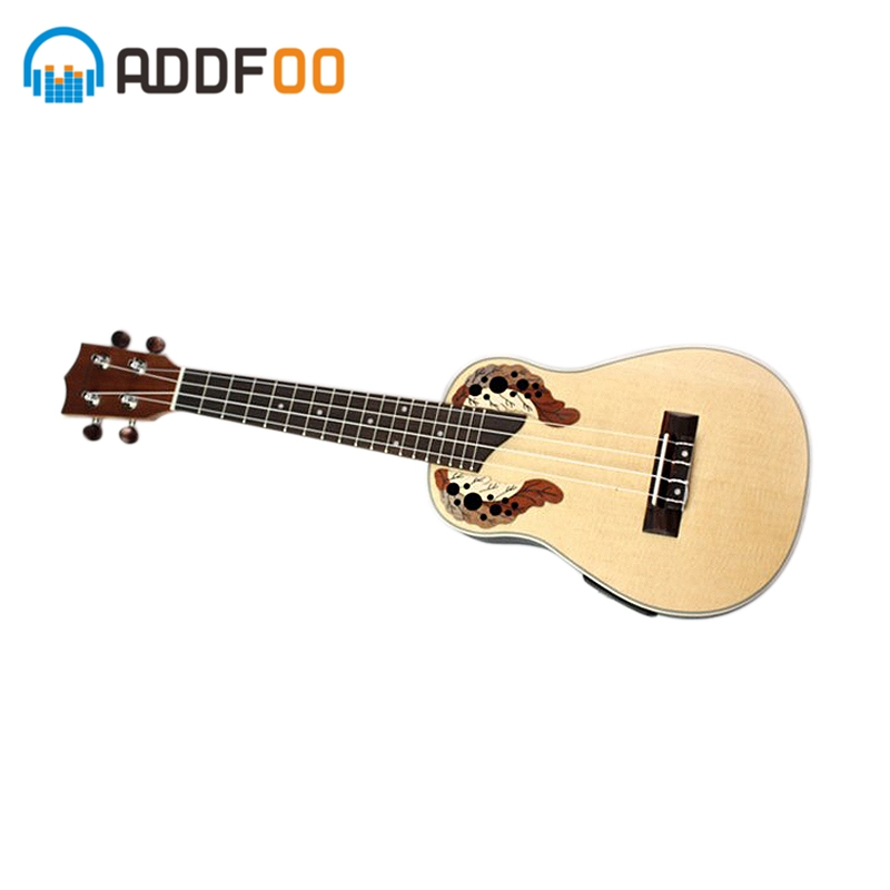 ADDFOO 23 inch Acoustic Ukelele Hawaiian Spruce Rosewood Fretboard Compact Ukulele 4 Strings Guitar Guitarra Musical Instrument