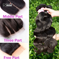 Nova venda quente produtos de irina hair bundles com fechamento barato brasileira virgem cabelo com encerramento oriente 3 parte livre onda de corpo inteiro