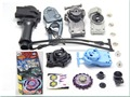 Galaxy Pegasus (Pegasis) W105R2F Metal Fury 4D Legends Beyblade Hyperblade BB-70 Beyblade Power String Launcher & Grip Set