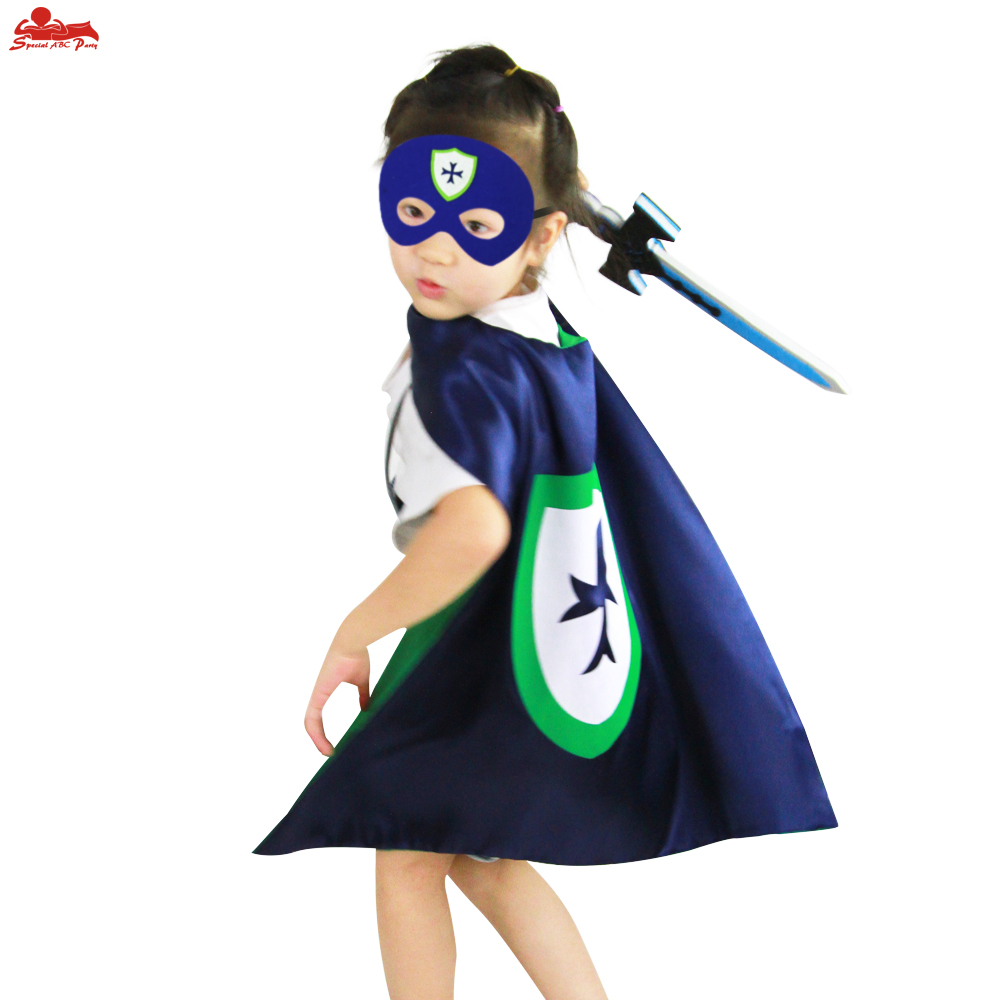 SPECIAL L 27* gift toy knight costume cape mask for child cosplay EVA elastic sword hero party decoration kids warrior arms