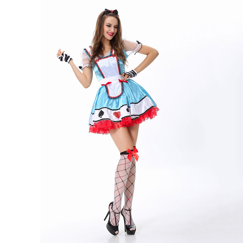 Amazing Sexy Alice in Wonderland Maid Costume Adults Fantasia Oktoberfest Cosplay Poker Princess Costumes For Halloween Party-in Movie u0026 TV costumes from ...  sc 1 st  AliExpress.com & Amazing Sexy Alice in Wonderland Maid Costume Adults Fantasia ...